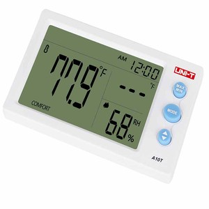Image 2 - UNI T A10T digital lcd thermometer Humidity meter clock hygrometer of Weather Station Tester With Alarm Clock Function