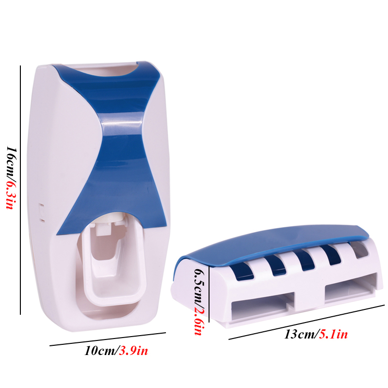 1 Set Creative Automatic Plastic Lazy Toothpaste Dispenser with 5 Toothbrush Holder 5