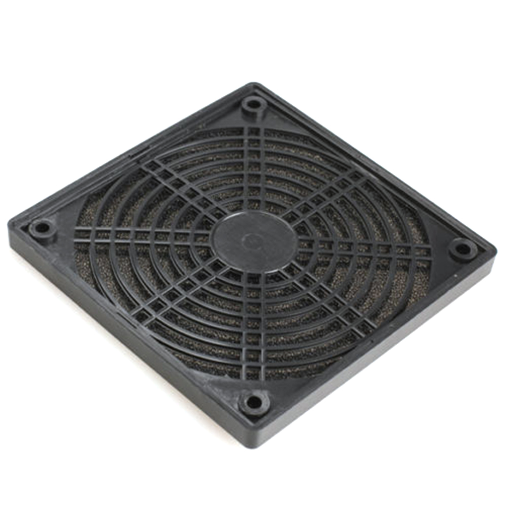 Black Dustproof ABS Plastic Mesh Case Fan Dust Filter For PC 120 X 120 X 10mm  Multipurpose High Quality Protector Cover