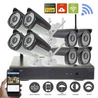 Home Security Camera CCTV System Wireless NVR 8CH IP CCTV Kit HD 720P P2P IR Night