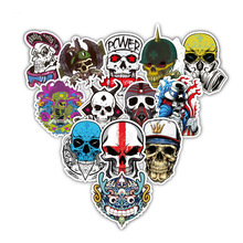 TD ZW 52Pcs / Lot Mixed Skull Cool Street Tyyli Tarra Laptop Auto Lumilauta Skateboard Puhelin Bicycle Decal Muoti Tarrat