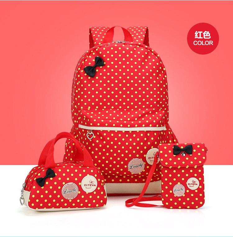 3pcs set Women Printing Backpack School Teenager Girls Canvas school bags Vintage Ladies laptop bag kids travel Backpak mochilas