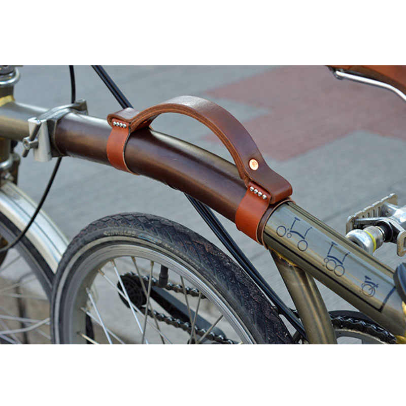 bike Genuine Cowhide Handle Carrying Set for Brompton Folding Bike