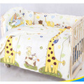 New Cute 100*58cm/110*60cm 5pcs/Set Promotion Cotton Baby Children Bedding Set Comfortable Crib Bumper Baby Organizer Cot Kit