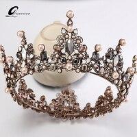 Baroque Crown Wedding Tiara Vintage Bridal Hair Accessories Hair Jewelry Alloy Tiaras Beauty Royal Crown Bridal