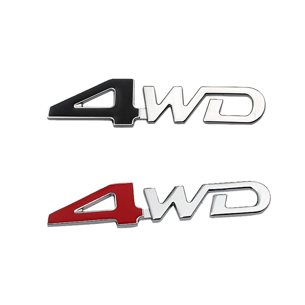 1 Pc Car Stickers Sline Sign 4WD Sticker Fender Decal Emblem Decor Decal