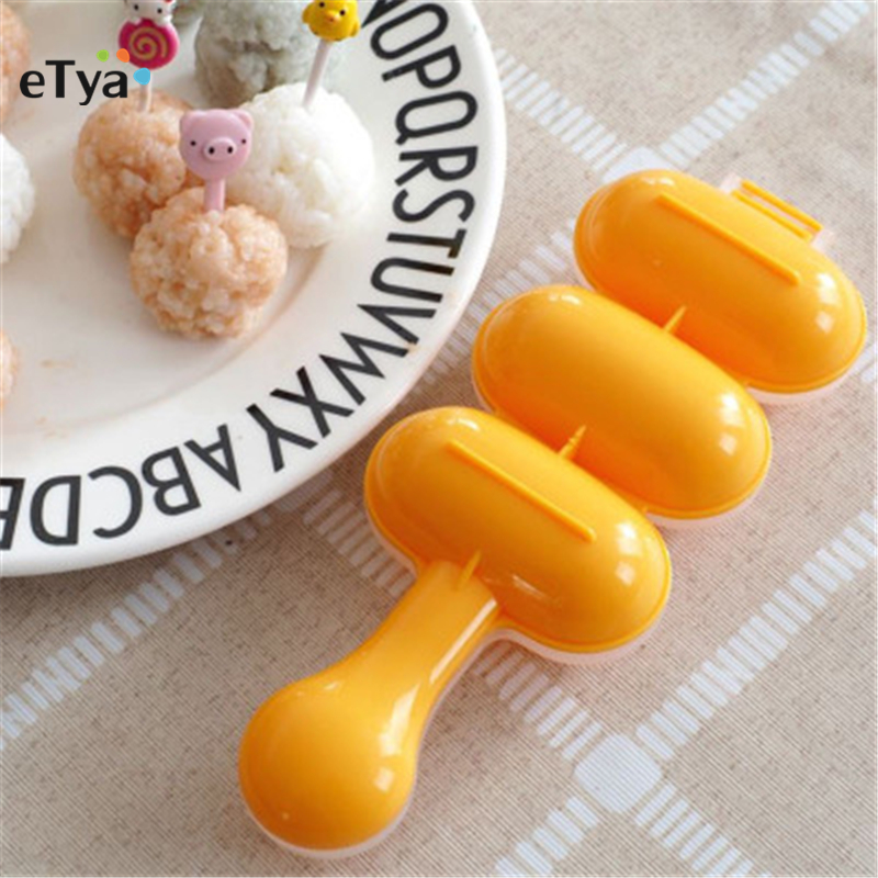 1PC DIY Cute Mini Rice and Vegetable Roll Mold Meat Ball Maker Sushi Onigiri Tool Kitchen Gadgets Food Grade PP Material image