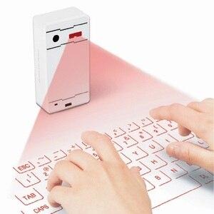Image 2 - Laser z bluetooth klawiatura bezprzewodowa wirtualna projekcja klawiatura przenośny dla Iphone smatfon z androidem Ipad Tablet PC