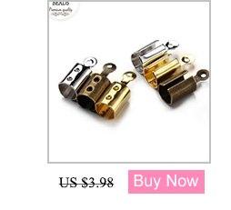 LINSOIR 100 шт./лот металлические наконечники конец застежки подходит 4/6 мм кожаного ремешка на браслет, соединительное устройство золото Цвет разъемы для самостоятельного изготовления ювелирных изделий F778