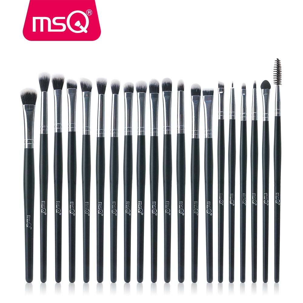MSQ Professionelle 20 teile/sätze Lidschatten Foundation Augenbrauen Lip Pinsel Make-Up Pinsel Kosmetik Werkzeug Make Up Eye Pinsel Set