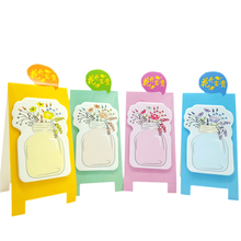 лучшая цена 1pack/lot Cute Flower Vase Note DIY Colorful Meaasge Mini Memo Sticky Paper Memo Pad Notes Students School Office Family Supply