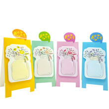 1pack/lot Cute Flower Vase Note DIY Colorful Meaasge Mini Memo Sticky Paper Memo Pad Notes Students School Office Family Supply(China)