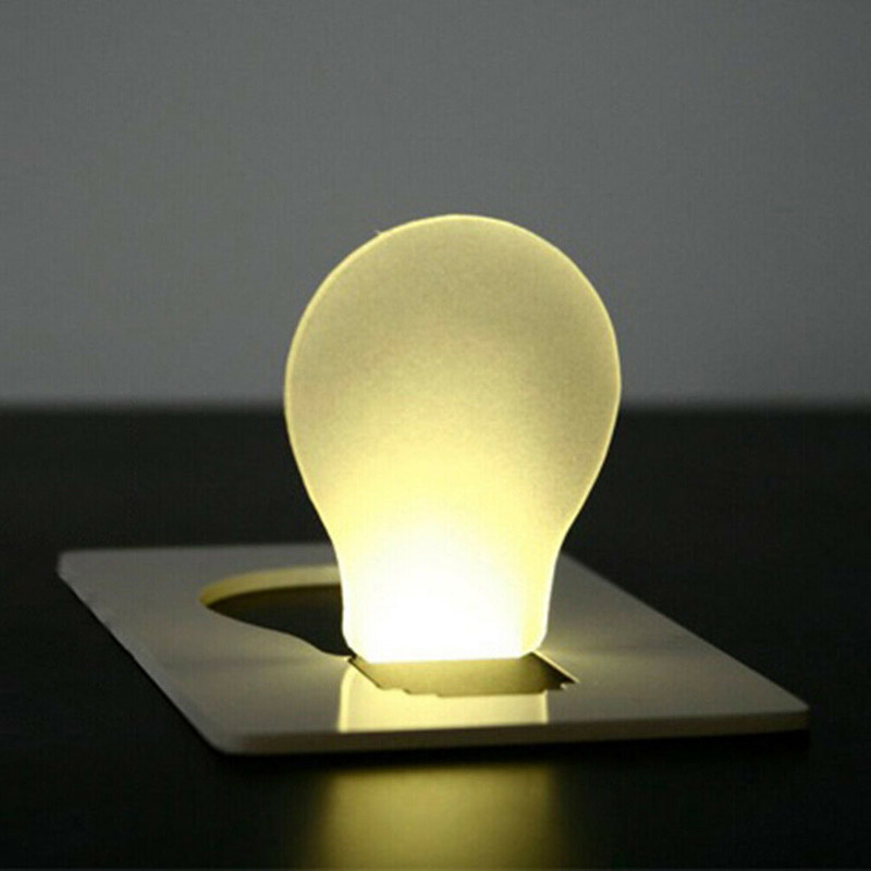 4 Pcs Set LED Card Light Foldable Night Lamp Portable Pocket Emergency Lights For Outdoor Survival Hiking Camping