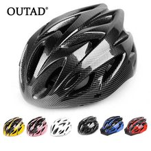 OUTAD Integrally Molded Bicycle Helmets Multi-Colors Unsex Bike Helmet Adjustable Head Circumference Mountain Cycling Helmet(China)