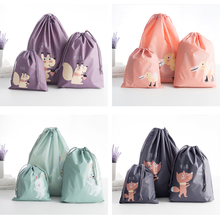 Cute cartoon Squirrel Rabbit Fox Duck animal Storage Bags Dress Organizer Simple creative bundle pockets Travel storage bags