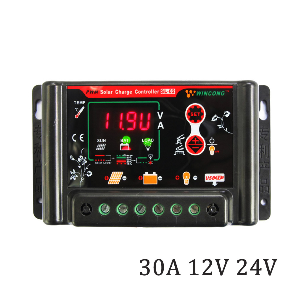 30A 12V 24V 3.7V 12.8V 25.6V 11.1V 14.8V 22.2V LI LI-ION NI-MH LiFePO4 Battery Solar Panel Charge Controllers Regulator30A 12V 24V 3.7V 12.8V 25.6V 11.1V 14.8V 22.2V LI LI-ION NI-MH LiFePO4 Battery Solar Panel Charge Controllers Regulator