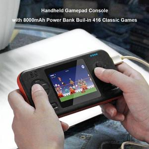 Image 5 - Buil 416 קלאסי משחקי כף יד Gamepad קונסולת משחקי מכונת עם 8000mAh כוח בנק משחק משחק צעצועי עבור ילדים מבוגרים