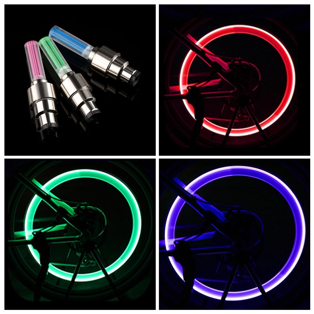 4 Pcs Valve Stem LED CAP for Bike Bicycle Car Motorcycle Wheel Tire Light lamp