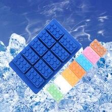 Diy silicone lego ice cube caixa de gelo moldes de chocolate geléia moldes doces bolo molde bakeware frete grátis