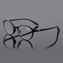 TR90 Moda Retro Rodada óculos de Leitura Óculos de Mulheres Homens HD Anti  Luz Azul Resina Filme Mais Lentes Presbiopia Ultralev. 6768fb8cfe