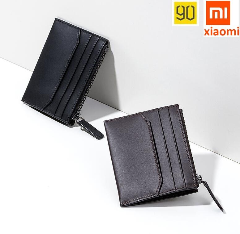 90FUN Xiaomi Zero Wallet Genuine Cow Leather MINI Purse Men s Wallet soft bag Fashion Coin
