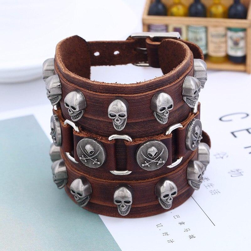 Vintage Leather Cuff Bracelet Alloy Bangle bracelet for Men /& Women Leather Cuff Bracelet