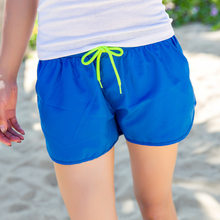 84f396d26a Blue Boardshorts Quick Dry Swimming Surfing Beach Shorts For Women Sea  Beach Board Shorts Female Swimwear Bathing Short Pants