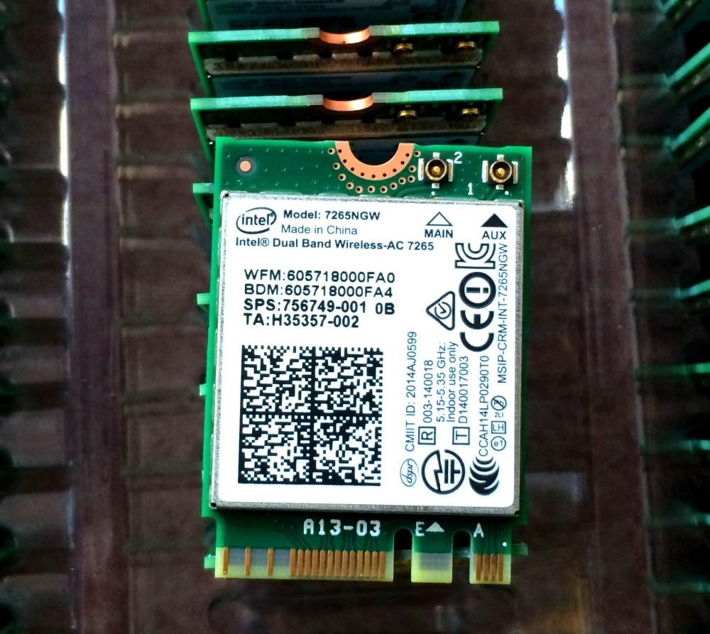 Dual Band Wireless AC 7265 7265NGW 7265 AC  BT4.0 867Mbps NGFF M2 Wireless Card