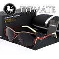 EYEMATE Бренд Большие солнцезащитные очки поляризованные очки, за рулем солнцезащитные очки классические солнечные очки женщин женственность бесплатная доставка E914