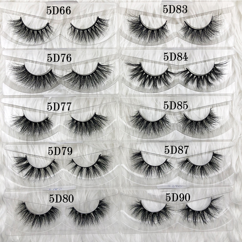 Image 3 - Mikiwi wholesale 50 pairs/pack 3D Mink Lashes No packaging Full Strip Lashes Mink False Eyelashes custom box Makeup eyelashes-in False Eyelashes from Beauty & Health