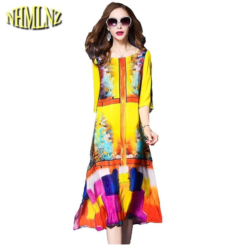 2019 summer new printing dress fashion western style