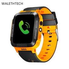 Tela sensível ao toque de chamada SOS LBS localização rastreador crianças smart watch relogio chat de voz de alarme inteligente para as crianças do bebê telefone Inteligente