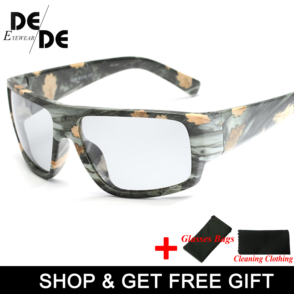 Hot Sale Mens Outdoor Driving Fishing Sunglasses Transition Lens HD Polarized
