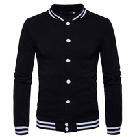Slim Fit College Varsity Mens Coats And Jackets 2017 Winter Hip Hop Male Baseball Jacket Causal