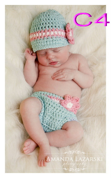 1ec091eed US $5.72 48% OFF free shipping,Crochet baby girl Hat & Nappy Diaper Cover  Set Newborn Photo props or gift,baby clothing sets-in Clothing Sets from ...