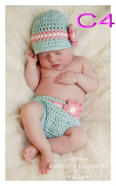 Online Shop Free Shippingcrochet Baby Girl Hat Nappy Diaper Cover