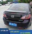 Para Mazda 6 Asa Traseira Do Carro Spoiler ABS Material de Alta Qualidade Cor Cartilha Spoiler Traseiro Para Mazda 6 Saqueador 2009-2014