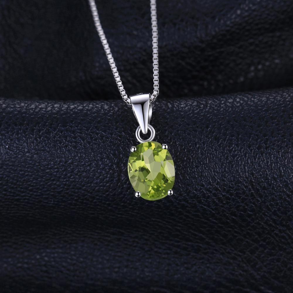 Natural Peridot Pendant Necklace 925 Sterling Silver Gemstones Choker Statement Necklace Women silver 925 Jewelry Without Natural Peridot Pendant Necklace 925 Sterling Silver Gemstones Choker Statement Necklace Women silver 925 Jewelry Without Chain