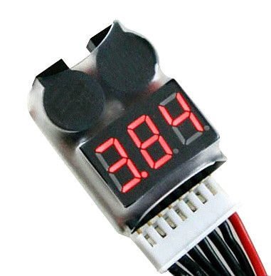 HUBSAN H501S Spare parts ,1-8S 2in1 Lipo/Li-ion/LiMn/Li-Fe Battery Voltage Tester Low Voltage Buzzer BB Alarm Accessories check