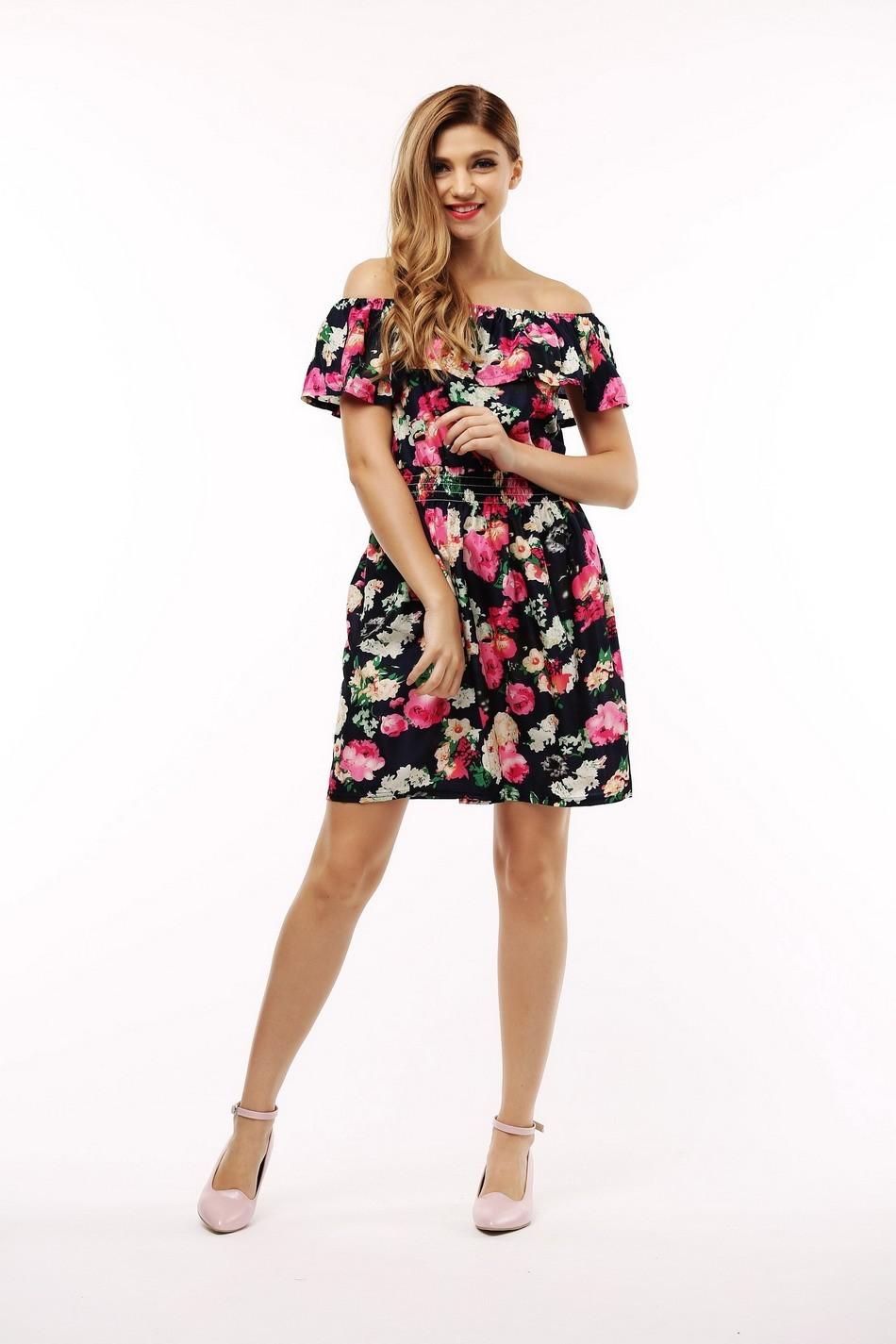 2017 fashion nowa wiosna lato plus size odzież kobiet floral print wzór sukienki na co dzień vestidos wc0472 3