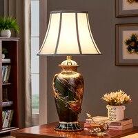 Роскошный керамический Настольный светильник креативный арт перо Настольная лампа винтажная гостиная спальня прикроватная ночник декора