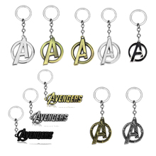 Marvel New The Avengers Logo Silver 6cm Metal Key chain Ring birthday gift