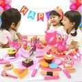 Кухонные игрушки для детей  80 шт./компл.  пластиковые режущие игрушки для торта на день рождения