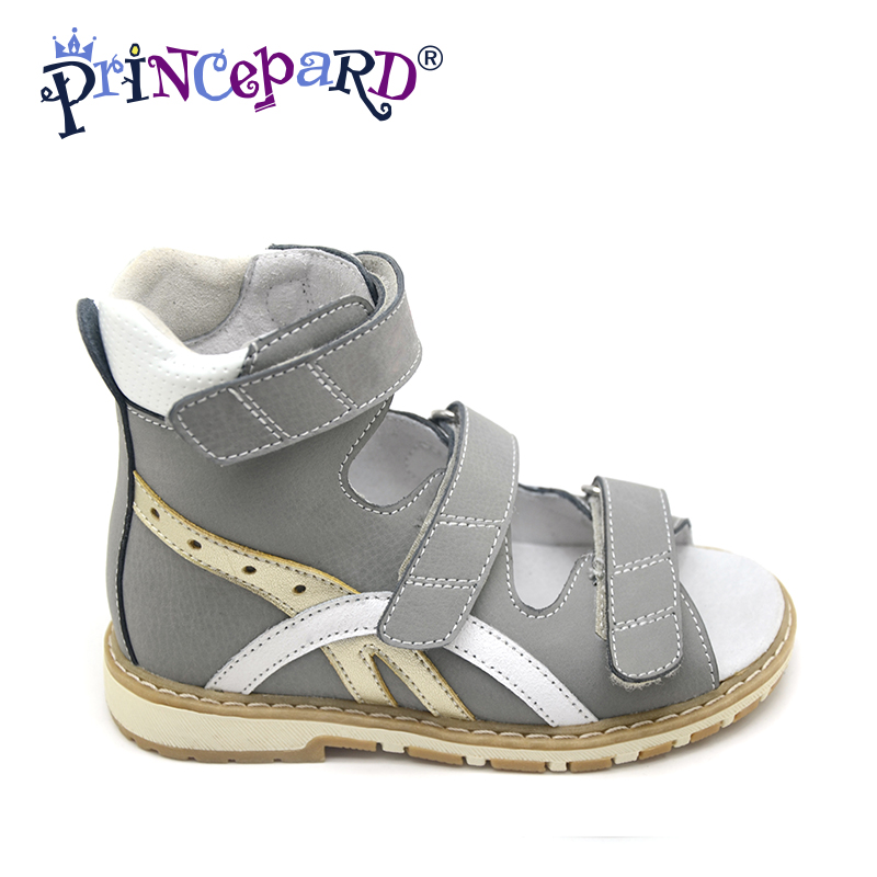 Princepard Need Customize in Advance 22 days New  gray othopedic shoes  for kids  3 colors of orhopedic footwear for kids boys