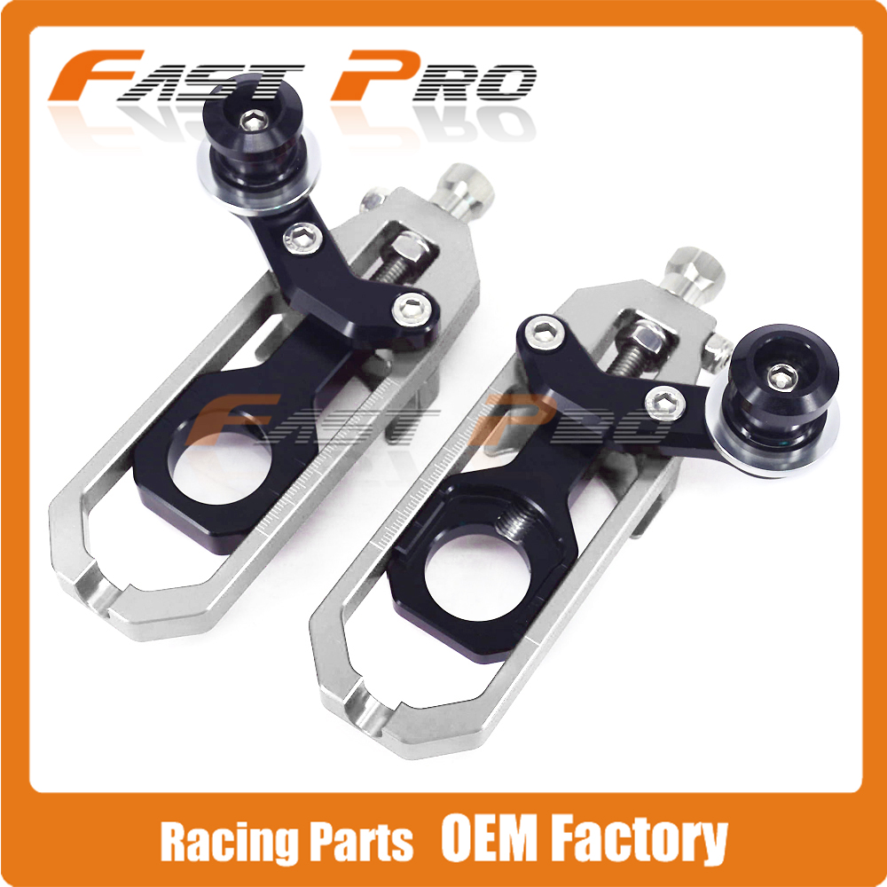 Motorcycle Chain Adjusters Tensioners With Spool for Aprilia RSV4 2010 2011 2012 2013 2014 10 11 12 13 14 mad moto high quality motorcycle chain adjuster with paddock bobbin fit for aprilia rsv4 2009 2010 2012 2013 2014 red black