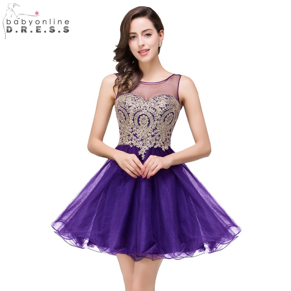 Popular purple prom cocktail dresses buy cheap purple prom cocktail vestido de festa curto cheap a line sheer neck short purple homecoming dresses 2017 short prom ombrellifo Choice Image