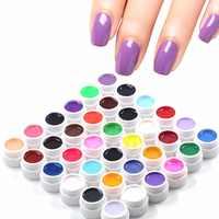 36 Pcs Mix Pot Tip Color Builder Polish Nail Art UV Gel Solid Extension Manicure D17602