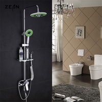 Frap 1 Set Of Apple Green Bathroom Shower All Copper Chrome Plated Wall Mounted Shower Sets