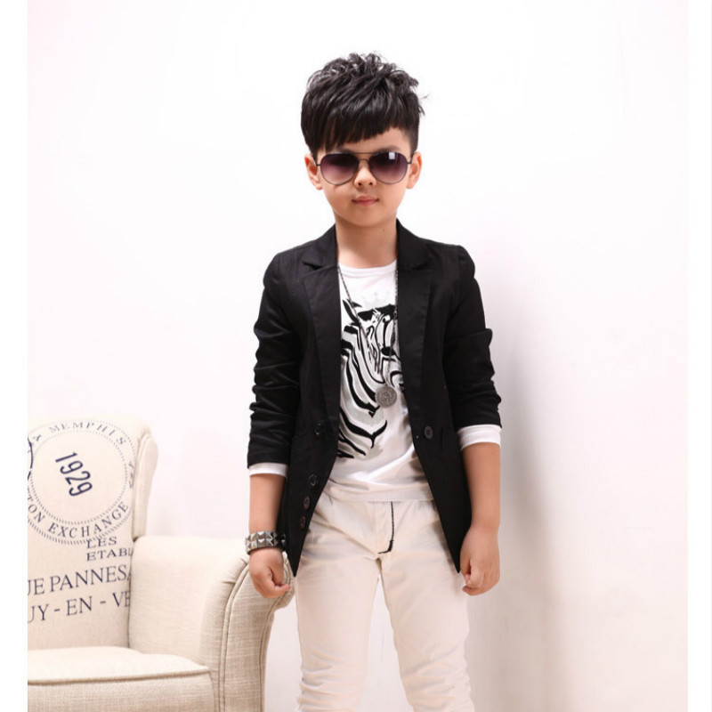 Kids Outwear Jacket 2017 Hot Sale Boys clothes Blazers Kids Long Sleeved  Sing breasted Small Boy Suit For Wedding Fashion 1226 -in Blazers from  Mother ... d2dc39deaf50