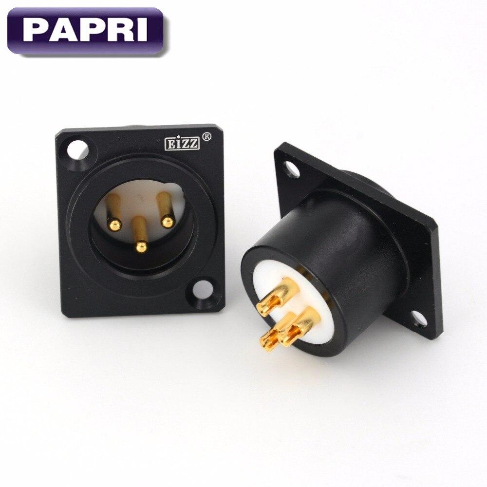 Heim-audio & Video Papri Männlichen 3pin Xlr Balance Plug Stecker Gold Überzogene Tellur Kupfer Audio Lot/1 Pcs Unterhaltungselektronik